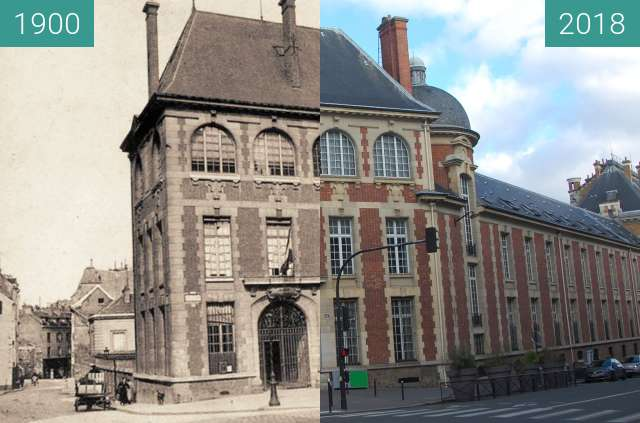 Before-and-after picture of  L'Institut Agronomique de Paris between 1900 and 2018-Feb-04