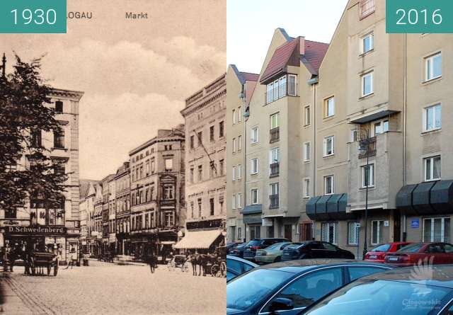Before-and-after picture of Market - East side  between 1930 and 2016