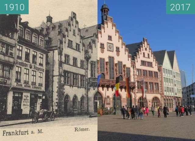Vorher-Nachher-Bild von Römerberg zwischen 1910 und 20.04.2017