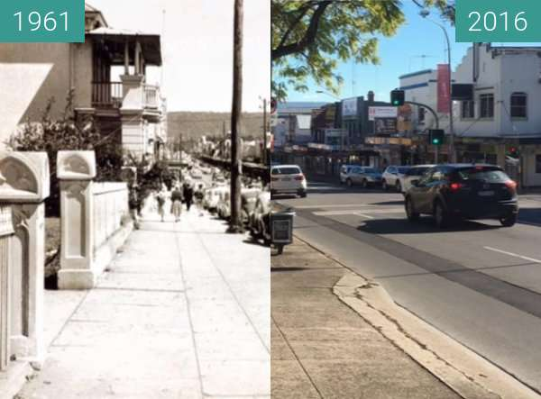 Before-and-after picture of High Street, Penrith between 1961 and 2016