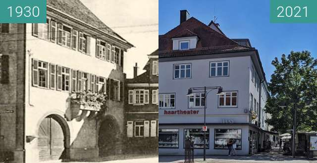 Before-and-after picture of Balingen, Stadtverwaltung between 1930 and 2021-Sep-04