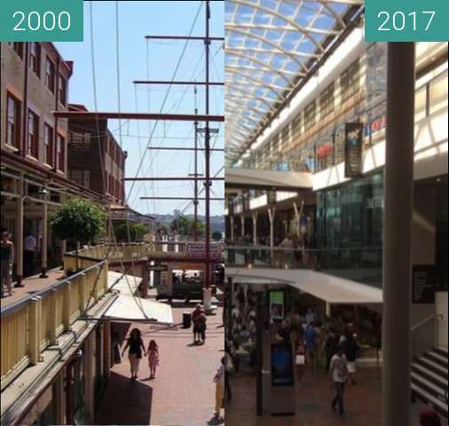 Before-and-after picture of Birkenhead Point, Drummoyne between 2000 and 2017