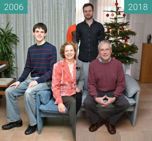 Before-and-after picture of Weihnachten between 2006-Dec-25 and 2018-Dec-25