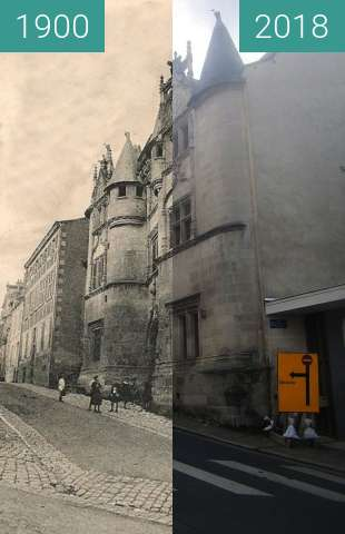 Before-and-after picture of Hôtel Fumé / Rue René Descartes between 1900 and 2018-Jul-18