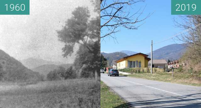 Before-and-after picture of Dumenza: Strada per Palone between 04/1960 and 04/2019