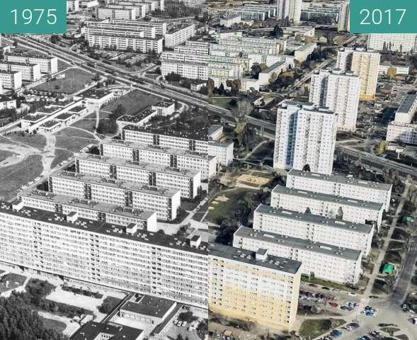 Vorher-Nachher-Bild von Osiedle Piastowskie zwischen 1975 und 2017