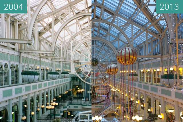 Before-and-after picture of St. Stephen's Green Shopping Centre between 2004-Nov-14 and 2013-Nov-29