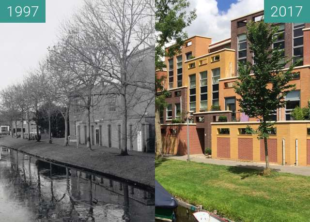 Before-and-after picture of Court and jail Alkmaar between 1997-Jan-20 and 2017-Jun-26