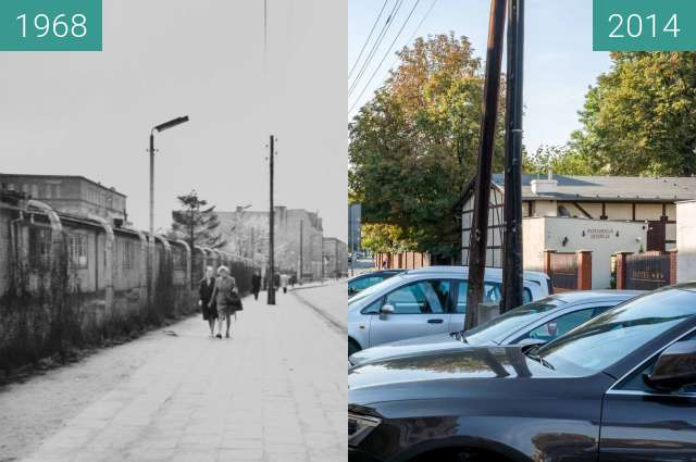 Before-and-after picture of Ulica Św. Wawrzyńca between 1968 and 2014