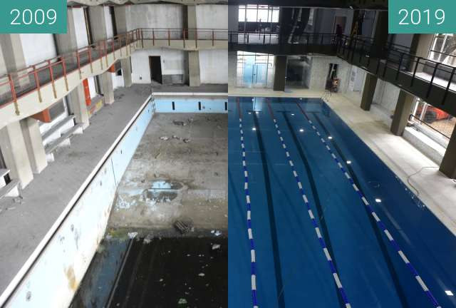 Before-and-after picture of Club Peretz between 2009 and 2019