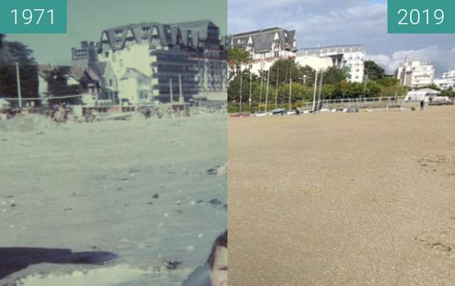Before-and-after picture of La Baule between 08/1971 and 2019