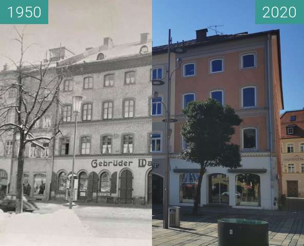Before-and-after picture of Gebrüder Wassermann between 1950 and 08/2020