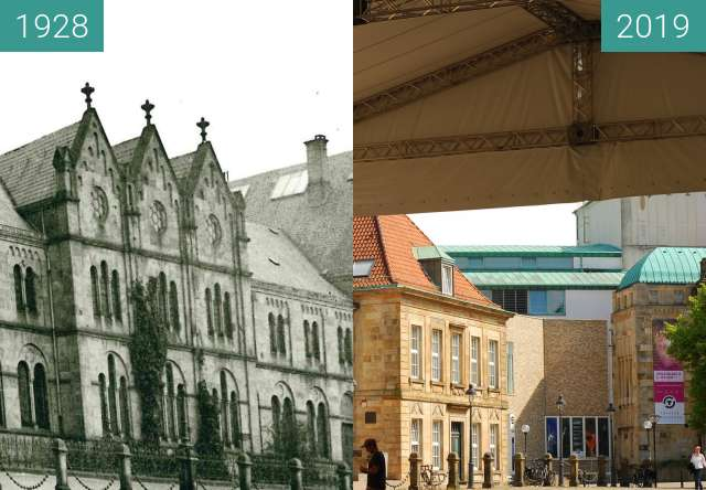 Before-and-after picture of Forum  am Dom between 1928 and 2019-Jun-22