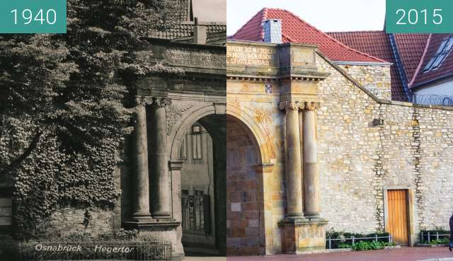 Before-and-after picture of Heger Tor Osnabrück between 1940 and 2015-Dec-04