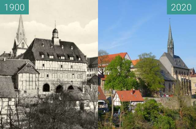Before-and-after picture of Warburg between 1900 and 2020-Apr-26