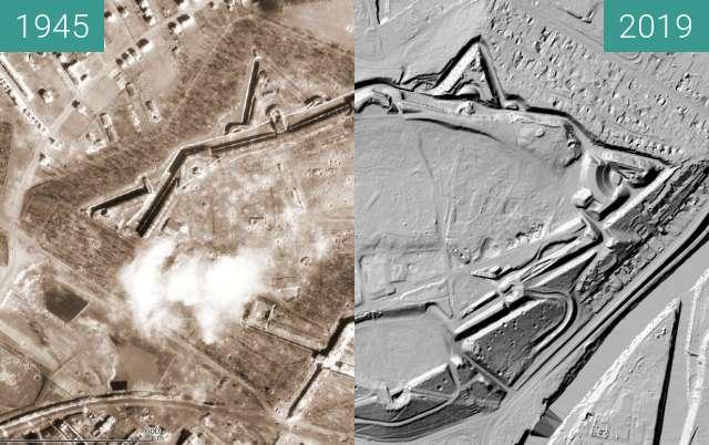 Vorher-Nachher-Bild von Poznań 1945 - Fort Winiary/Cytadela (LIDAR) zwischen 1945 und 2019