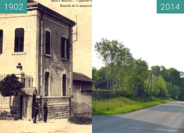 Before-and-after picture of caserne Sénarmont between 1902 and 2014-Jun-02