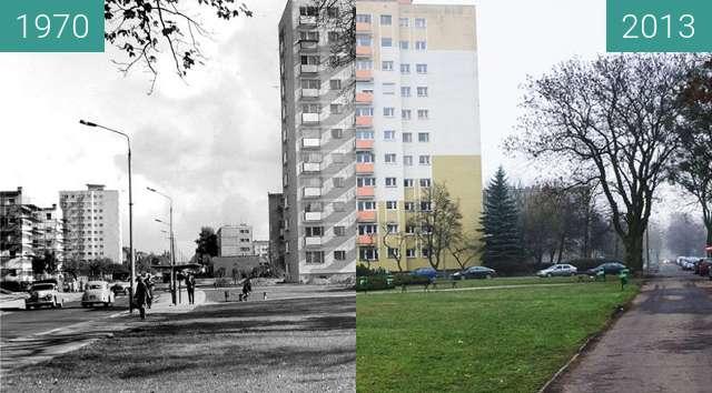 Vorher-Nachher-Bild von Poznań, ulica Rycerska przy Marcelinskiej  zwischen 1970 und 13.12.2013