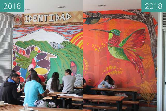Before-and-after picture of Murales Universidad de Caldas between 2018-May-15 and 2018-May-22