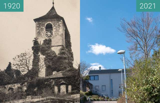 Before-and-after picture of Stuttgart - Wangen, Michael(i)skirche between 1920 and 2021-Apr-04