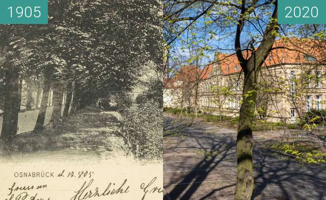 Before-and-after picture of Kath. Domschule am Herrenteichswall between 08/1905 and 03/2020