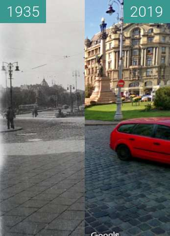 Before-and-after picture of Lwów sprzed 100 lat between 1935 and 2019