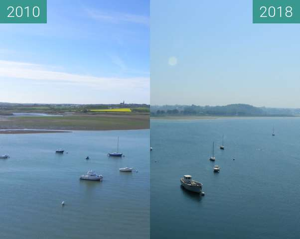 Before-and-after picture of Vue sur les bords de Rance between 2010-Apr-30 and 2018-May-07