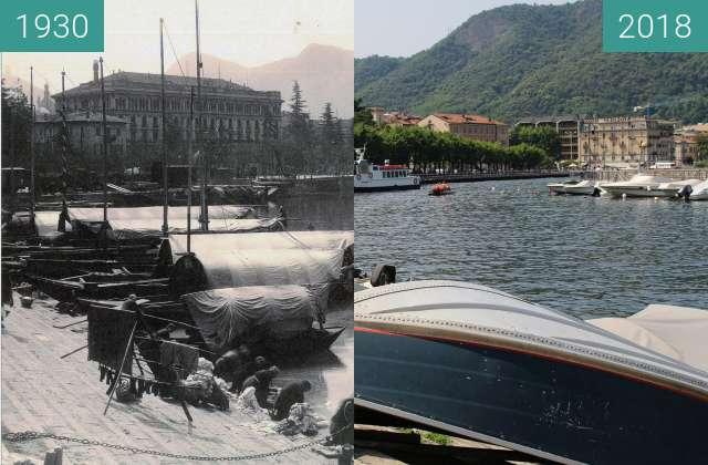 Vorher-Nachher-Bild von Lake of Como zwischen 1930 und 2018
