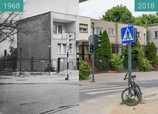 Vorher-Nachher-Bild von Ulica Grudzieniec zwischen 1968 und 2018