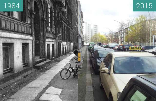 Before-and-after picture of Berlin - Sebastianstraße 1984/2015 between 1984 and 04/2015