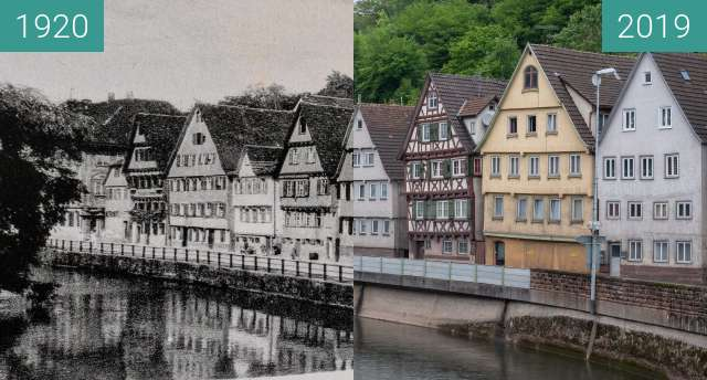 Before-and-after picture of Calw - An der Nagold between 1920 and 2019-May-25