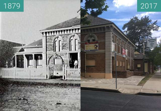 Before-and-after picture of Richmond School of Arts  between 1879 and 2017-Nov-19