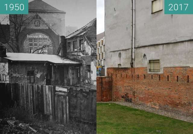 Before-and-after picture of Ulica Wroniecka, Plac Wroniecki between 1950-Sep-29 and 2017-Mar-29