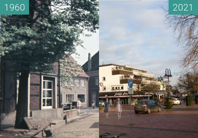 Before-and-after picture of Kirchhellen, Johann-Breuker-Platz between 1960 and 2021-Jan-01