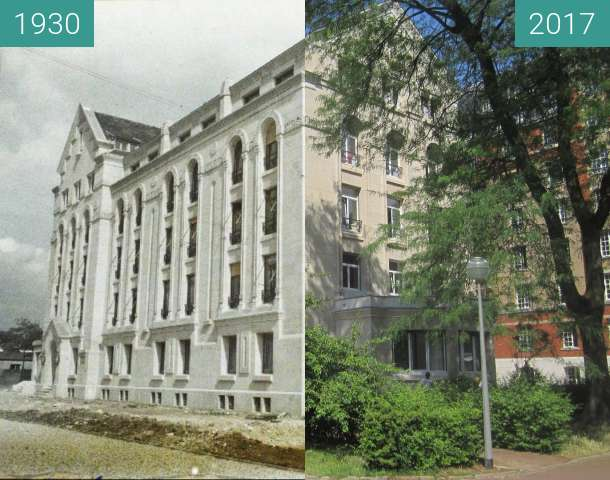 Before-and-after picture of Cité Universitaire: Maison Arménienne between 1930-Sep-07 and 2017-Jun-14