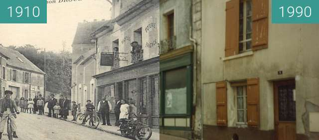 Before-and-after picture of Coupvray between 1910 and 1990