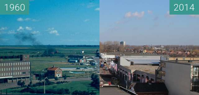Before-and-after picture of Koedijkerstraat between 1960 and 2014-Mar-05