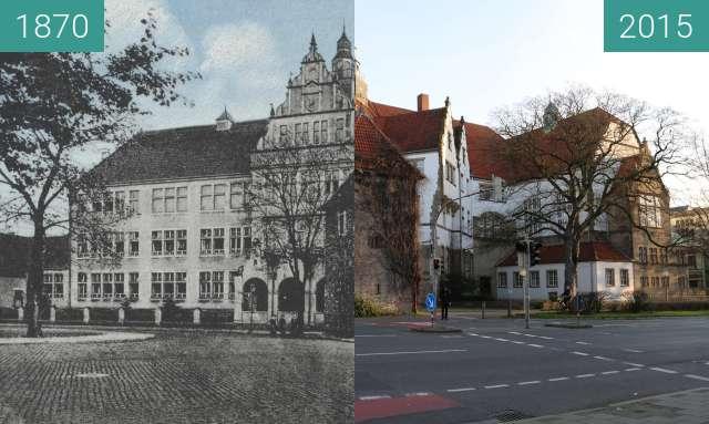 Vorher-Nachher-Bild von Ratsgymnasium zwischen 1870 und 30.12.2015