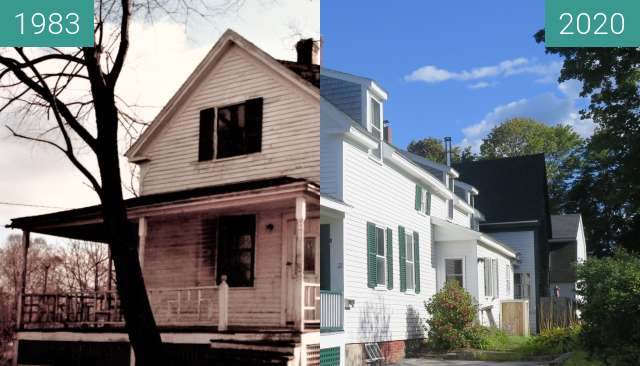 Before-and-after picture of 21 Allyn Street Belfast Maine between 1983-Sep-05 and 2020-Sep-05