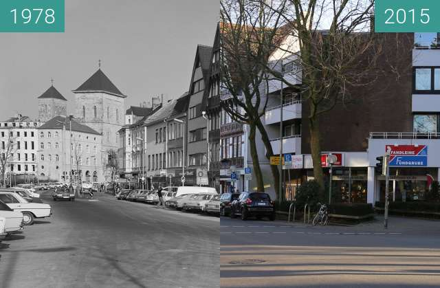 Before-and-after picture of Dielinger Straße between 1978 and 2015-Dec-30