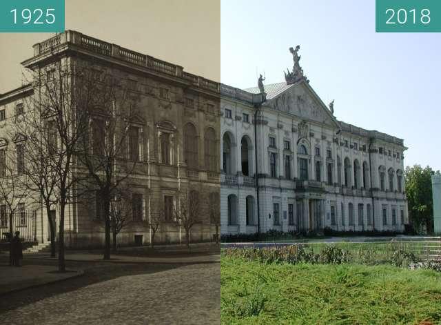 Vorher-Nachher-Bild von Krasińskich Palace in Warsaw zwischen 1925 und 2018