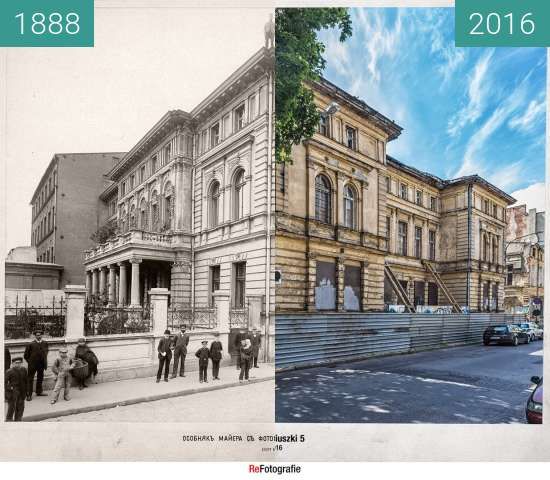 "Before-and-after picture of Villa ""Trianon"" between 1888 and 2016"