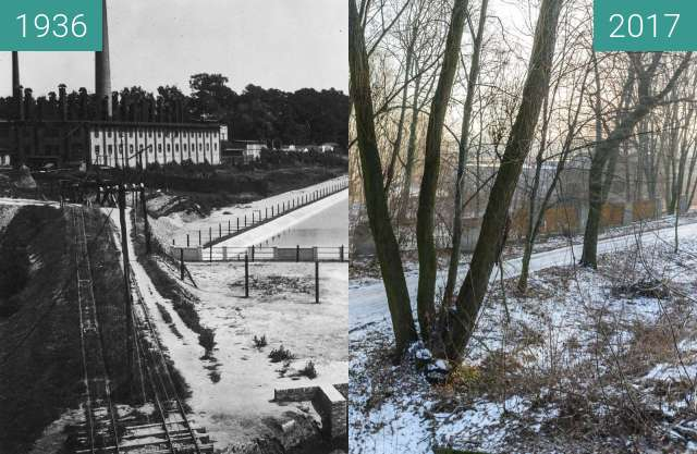Before-and-after picture of Golęcin, KS Olimpia between 1936 and 2017
