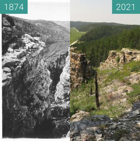 Before-and-after picture of Illingworth 809, Black Hills, USA, 1874, 2021 between 1874-Jul-26 and 2021-Jul-28