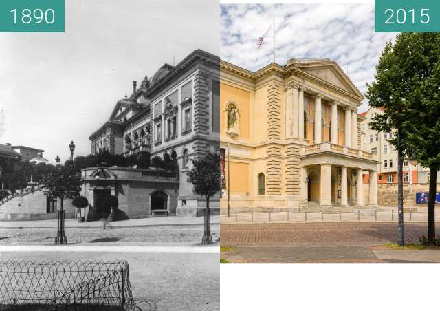 Before-and-after picture of Oper Halle between 1890 and 2015-Jul-11