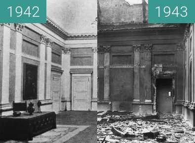 Before-and-after picture of Bombed Turin between 1942 and 1943