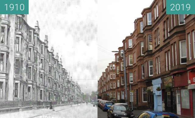 Before-and-after picture of Deanston Drive between 1910 and 2019-Mar-24