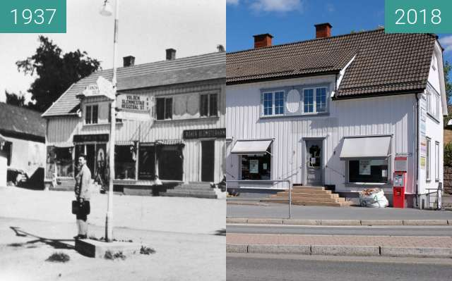 "Before-and-after picture of ""Langgården"" in Asker, Norway between 1937 and 2018-Aug-05"