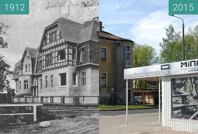 Before-and-after picture of Bauch'sche Anlagen between 1912 and 2015