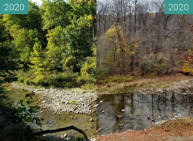 Vorher-Nachher-Bild von Creek zwischen 23.09.2020 und 31.10.2020